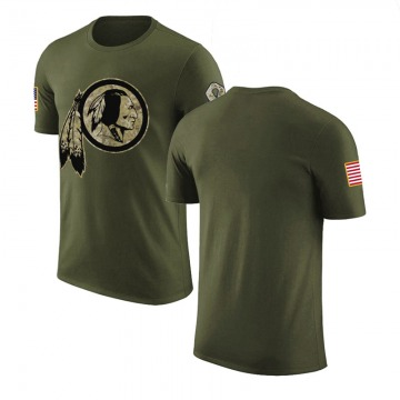 Men's Blank Washington Redskins Olive Salute to Service Legend T-Shirt